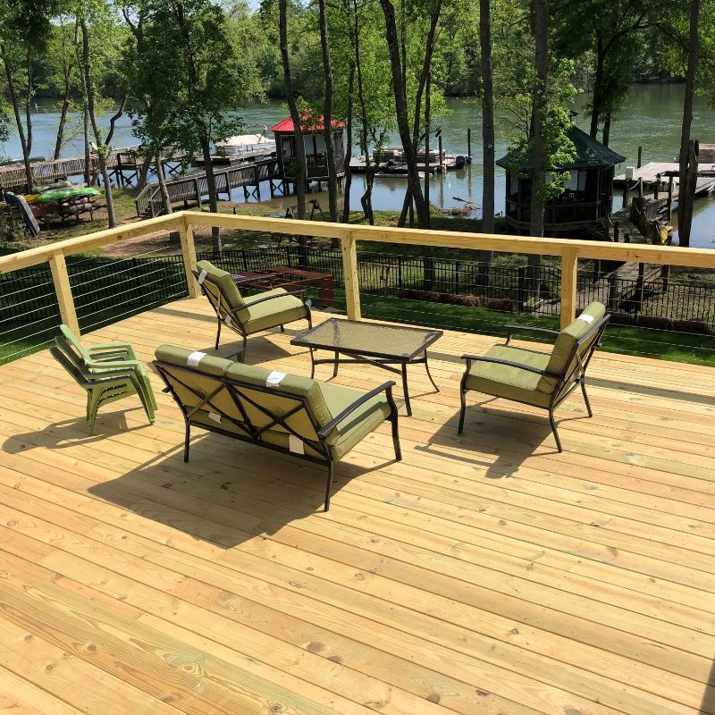 Lake Deck Railing